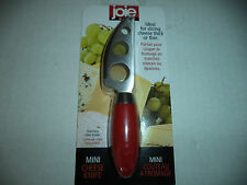 Joie Red Mini Cheese Knife  With Stainless Steel Blade Slicing Thick And Thin