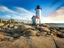 LIGHTHOUSE SEASCAPE BEACH SKY PHOTO ART PRINT POSTER PICTURE BMP590A