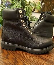 Timberland Men Limited Edition Footbal Leather Waterproof Black Boot A176B Sz7.5