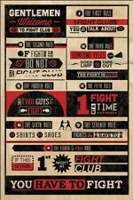 Fight Club Rules Movies Poster Art Print 24x36 inch Great Collectible