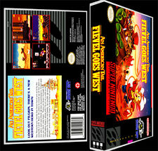 American Tail Fievel Goes West - SNES Reproduction Art Case/Box No Game.