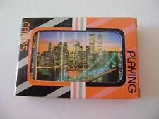 NEW YORK SKYLINE  PLAYING CARDS w/the 2-World Trade Center pre-911