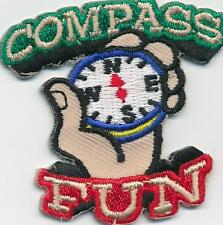 Girl Boy Cub COMPASS FUN reading Patches Crests Badges SCOUTS GUIDE orienteering