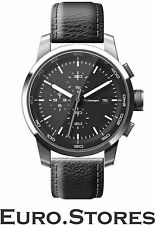 VW Volkswagen Unisex Watch Black Leather Date Chronograph Stainless Genuine New