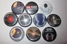 """2001 A Space Odyssey Set of 10 1 1/4"""" Buttons HAL 9000 Discovery Kubrick"""