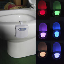 8 Color LED Toilet Bathroom Night Light Human Motion Activated Seat Sensor Lamp