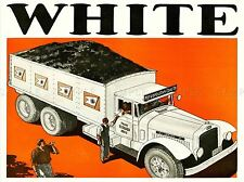 ADVERT WHITE TRUCK COAL TRANSPORT CLASSIC ART POSTER PRINT LV315