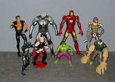 lot Figurines Iron-man/Thor/Destructeur/Homme sable/Hulk/Volverine/Namor/Spider