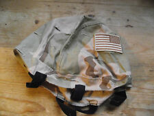 US desert dpm helmet cover with tactical flag unissued