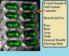 80 EVION Vitamin E Capsules 400mg Face,Hair,Acne,Nails Health Glowing Skin ebay