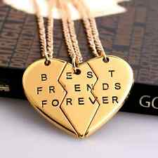 Collana per coppia BEST FRIENDS FOREVER 3 Ciondolo Partner Amicizia Bambina
