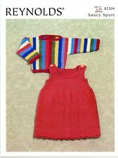 Striped Pullover & Jumper -Reynolds Saucy Sport Knitting Pattern 82304 Baby Kids