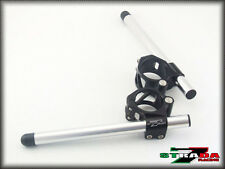 Strada 7 Racing CNC Clip On Handle Bars Aprilia RS250 50mm Silver