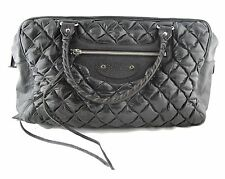 BALENCIAGA STUNNING BLACK LEATHER QUILTED TOTE