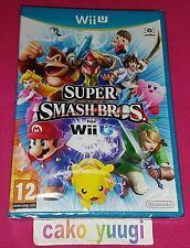 SUPER SMASH BROS NINTENDO WII U VERSION 100% FRANCAISE NEUF SOUS BLISTER