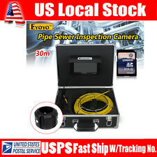 "7"" LCD 30M Sewer Updated Camera Pipe Pipeline Drain Inspection Snake Cam 8GB"