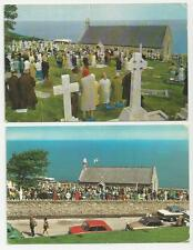 Two Different Postcards, St Tudno's Church, Great Orme, Llandudno