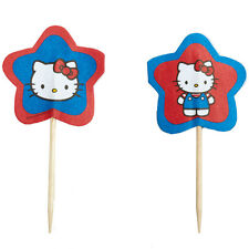 HELLO KITTY CAT Party CAKE Topper Decoration Cookie Wilton Cupcake Pics 24 Favor