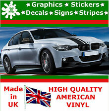 "7 ""Wide Racing Stripe Vinile Decalcomania ADESIVO AUTO CAMION AUTO RALLY CORSA BMW grafica"