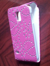 Glitter Jewelled Diamond PU Leather Flip Case Cover for Samsung Galaxy phones