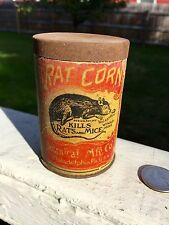 ANTIQUE RAT CORN MICE KILLER POISON BOTANICAL MFG PHILADELPHIA PA VINTAGE