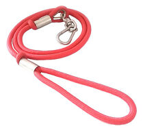 "New Durable Heavy Duty Round Dog Leash 63"" Long 1/2"" Diameter RED Dog Lead"
