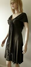 Amanda Wakeley Designer Brown 100% Silk Jersey Prom Dress Cocktail Dress Size 12