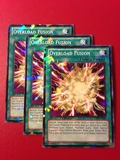 3x Yugioh DT07-EN042 Overload Fusion Duel Terminal for Cyber Dragon Deck NM x3