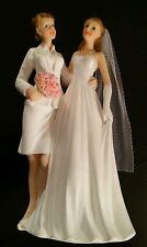 December Diamonds Lesbian Brides Formal Wedding Cake Topper Gay Marriage Ceramic