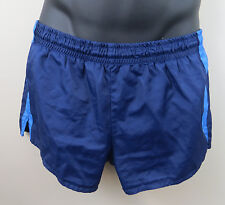 Vintage 1980s 80s Shorts Blue Running Retro Vtg Shiny Mens Gr 6 Medium Large M L
