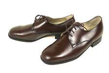 Schnürschuhe Business zapatos cuero marrón talla 42,5 (8,5) derby suela de cuero rindbox