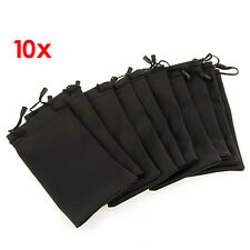"10 Black Sunglasses Eyeglasses Cloth Pouch Bag 7.1x3.5"" HOT LW"