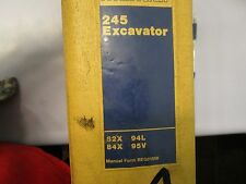 CATERPILLAR CAT 245 EXCAVATOR  SERVICE MANUAL form REG01656 82X 84X 94L 95V