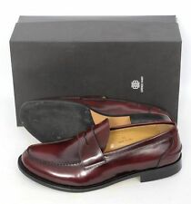 Mens LORENZO BANFI Bordeaux Leather Penny Loafer Shoes US 9 D  $625!