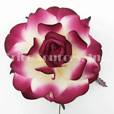 "Trico Party Favor Stiff Mulberry Paper Rose 10 Pieces x 2.5""/Flower - RP4553"