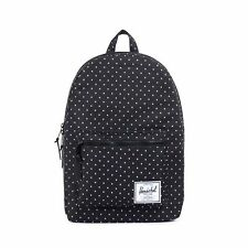 HERSCHEL SUPPLY CO SETTLEMENT BACKPACK BLACK POLKA MSRP $55- BRAND NEW w/TAG!