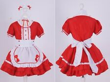 Z-01 Gr S rot red Maid Dienstmädchen Lolita Cosplay Kleid dress Kostüm costume