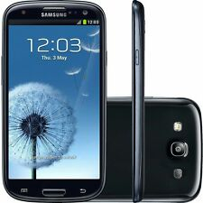 SAMSUNG GALAXY S3 Black I9300 NEW BOXED MOBILE PHONE UNLOCKED SIM FREE