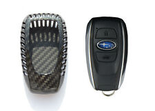 Pinalloy Deluxe Real Carbon Fiber Remote Smart Key Shell Holder Cover For Subaru