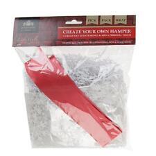 Make Your Own Hamper Kit - Bag, Bow & Shredded Paper - White