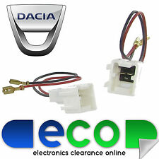 DACIA Lodgy Sandero Duster Car Speaker Adaptor Plug Lead Connectors CT55-DC01