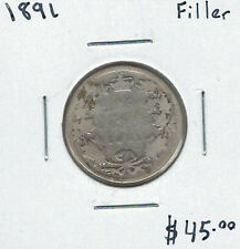 Canada 1891 Silver 25 Cents Filler