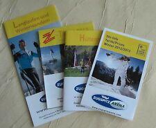 4 Stück Info Zugspitze Langlaufen und Winterwandern Z-Ticket Ski-InfoHüttenpass