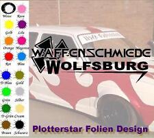 Waffenschmiede Wolfsburg nr4 Iron Cross Sticker Aufkleber Fun Geil Like Tuning