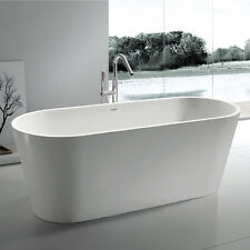 Free Standing Solid Surface Stone Modern Soaking Bathtub 61 x 32 inch - SW-108