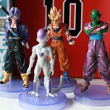 4pcs Set Dragonball Z Super Saiyan Goku Trunks Piccolo Freeza 10-13cm PVC Figure