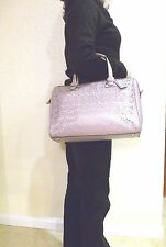 NEW COACH F27392 TAYLOR EYELET FLOWER LEATHER SATCHEL (SILVER/GoldenBrown COLOR)