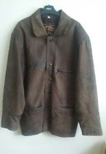 MENS EXCITING ORIGINALS REAL LEATHER COAT JACKET THICK HEAVY SIZE S