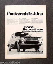 N600 - Advertising Pubblicità - 1968 - FORD ESCORT 1100