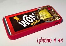Red Willy Wonka Chocolate Bar Golden ticket iPhone 4 4s  case Charlie factory